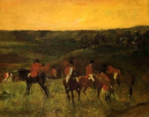 Famous paintings of Horses & Horse Riding: The Start of the Hunt
