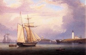 Reproduction oil paintings - Fitz Hugh Lane - Drying Sails off Ten Pound Island