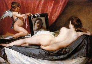Famous paintings of Angels: A Venus at Her Mirror