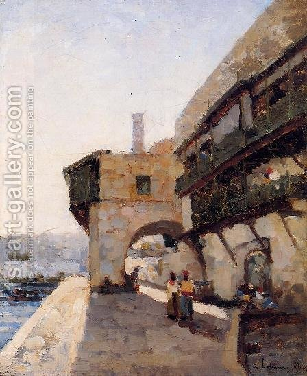 The Quay de l'Amiraute in Algiers by Albert Lebourg - Reproduction Oil Painting