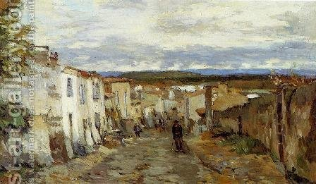 Street in Pont du Chateau by Albert Lebourg - Reproduction Oil Painting