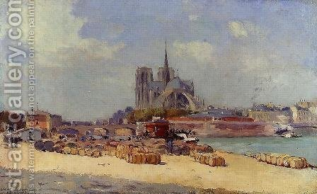 Notre Dame de Paris by Albert Lebourg - Reproduction Oil Painting
