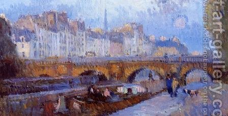 The Pont Neuf and the Monnaie Lock by Albert Lebourg - Reproduction Oil Painting