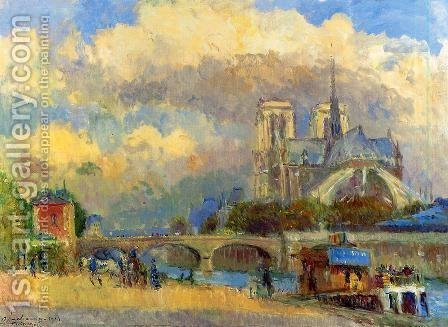 Notre Dame de Paris I by Albert Lebourg - Reproduction Oil Painting