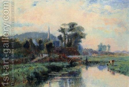 The Banks of the Durdent by Albert Lebourg - Reproduction Oil Painting
