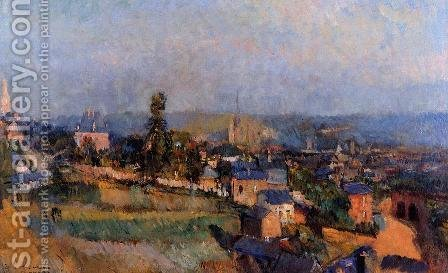 At Bois Guillaume, near Rouen by Albert Lebourg - Reproduction Oil Painting