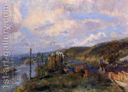 Near Rouen: the Cliffs of Saint-Adrien by Albert Lebourg - Reproduction Oil Painting