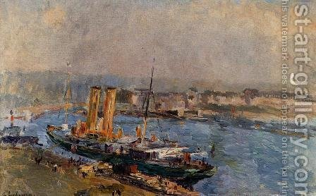 The Port of Rouen by Albert Lebourg - Reproduction Oil Painting