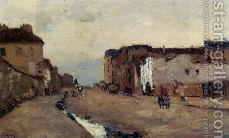 A Street in Bercy by Albert Lebourg - Reproduction Oil Painting