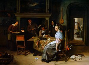 Famous paintings of Card Games: The Cardplayers