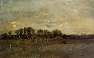 Reproduction oil paintings - Charles-Francois Daubigny - The Orchard at Sunset