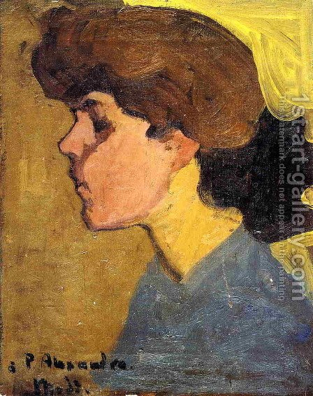 Woman's Head in Profile by Amedeo Modigliani - Reproduction Oil Painting