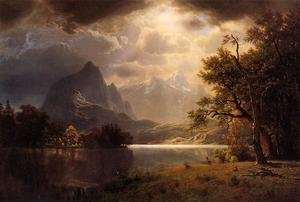 Reproduction oil paintings - Albert Bierstadt - Estes Park, Colorado