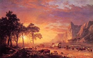 Famous paintings of Horses & Horse Riding: The Oregon Trail