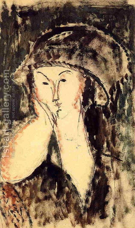 Beatrice Hastings Leaning on Her Elbow by Amedeo Modigliani - Reproduction Oil Painting