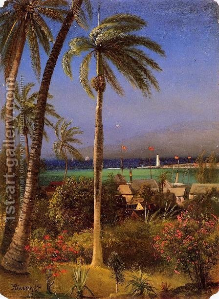 Bahamian View by Albert Bierstadt - Reproduction Oil Painting