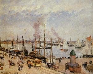 Famous paintings of Trams: The Port of Le Havre - High Tide