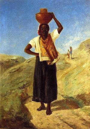 Woman Carrying a Pitcher on Her Head