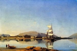 Reproduction oil paintings - Fitz Hugh Lane - Entrance to Somes Sound from Southwest Harbor