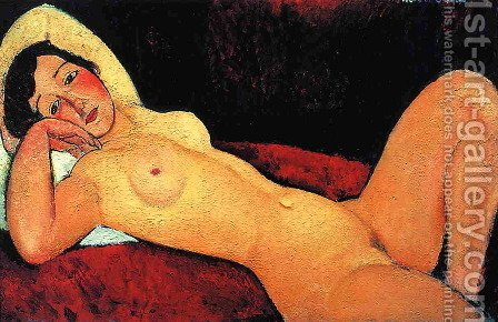 Reclining Nude I by Amedeo Modigliani - Reproduction Oil Painting