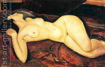 Recumbent Nude by Amedeo Modigliani - Reproduction Oil Painting