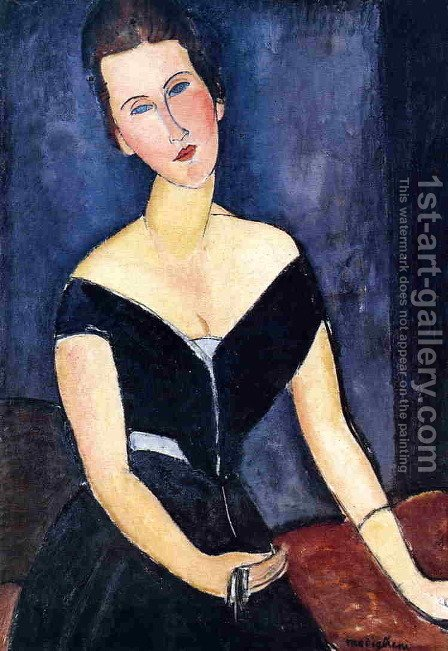 Madame Georges van Muyden by Amedeo Modigliani - Reproduction Oil Painting