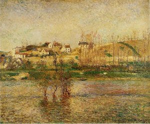 Famous paintings of Flood & High Tide: Flood in Pontoise
