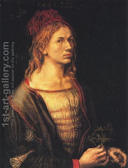 Self Portrait at 22 I by Albrecht Durer - Reproduction Oil Painting