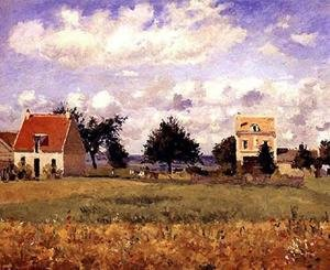 Reproduction oil paintings - Camille Pissarro - The Red House