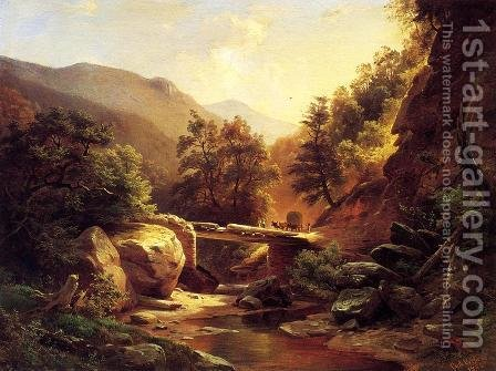 Boulder Crossing, Pennsylvania by Gottlieb Daniel Paul Weber - Reproduction Oil Painting