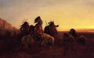 Famous paintings of Wild West: The Lost Trail