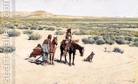New Territory by Henry Farny - Reproduction Oil Painting