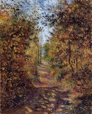 Reproduction oil paintings - Camille Pissarro - A Path in the Woods, Pontoise