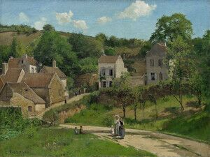Famous paintings of Villages: L'Hermitage at Pontoise