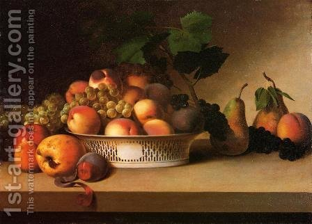 James Peale: An Abundance of Fruit - reproduction oil painting