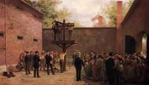 Reproduction oil paintings - Edward Lamson Henry - The Pillory and Whipping Post, New Castle, Delaware
