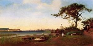 Famous paintings of Clouds & Skyscapes: Seabright from Galilee