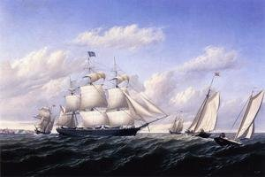 Reproduction oil paintings - William Bradford - Whaleship 'Speedwell of Fairhaven, Outward Bound off Gay Head