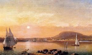 Reproduction oil paintings - Fitz Hugh Lane - Camden Mountains and Harbor from the North Point of Negro Island
