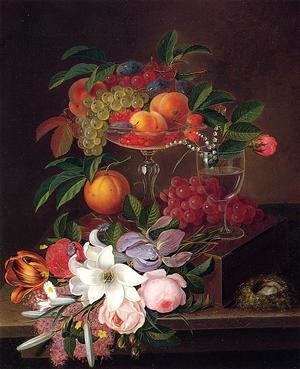 Still Life with Fruit, Flowers and Bird's Nest