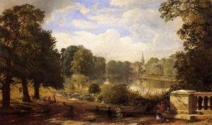 Famous paintings of Pools: The Serptentine, Hyde Park, London