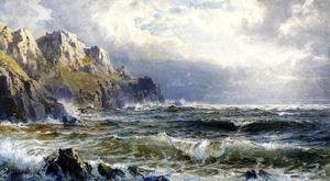 Reproduction oil paintings - William Trost Richards - Moye Point, Guernsey, Channel Islands