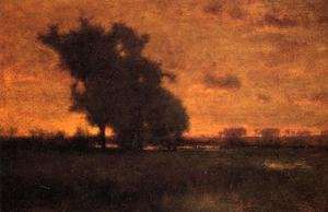 Reproduction oil paintings - George Inness - Sunset at Milton