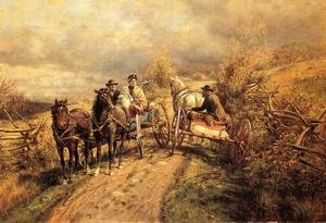 Reproduction oil paintings - Edward Lamson Henry - The Latest Village Scandal