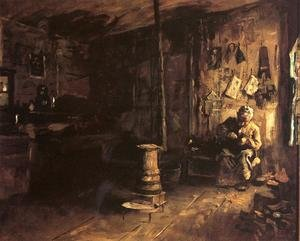 Famous paintings of Studios and Workshops: Shoemaker Haberty's Shop