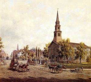 Reproduction oil paintings - Edward Lamson Henry - St. Mark's in the Bowery in the Early Forties