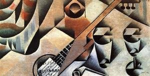 Reproduction oil paintings - Juan Gris - Guitar and Glasses