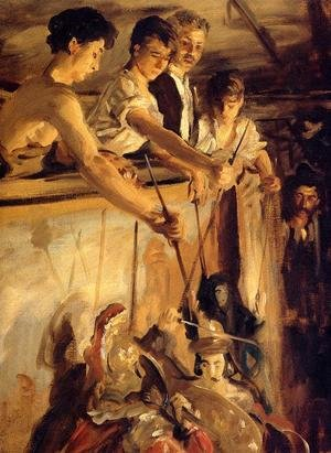 Reproduction oil paintings - Sargent - Marionettes
