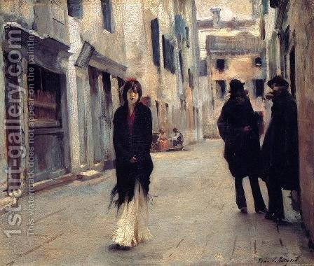 Sargent: Street in Venice 2 - reproduction oil painting