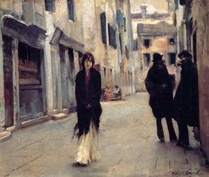 Famous paintings of Landscapes: Street in Venice 2